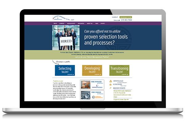 Career Services Front End Website Design