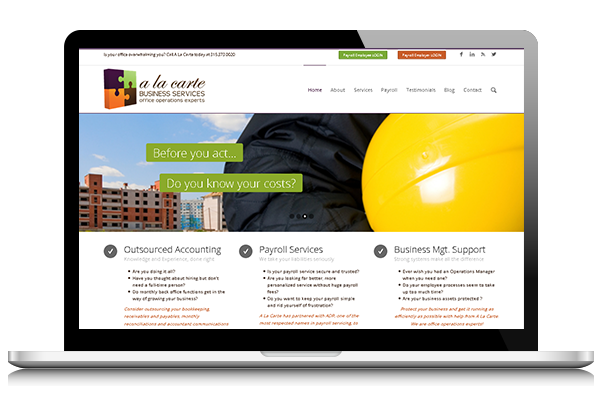 Accountant's Front End Website Design