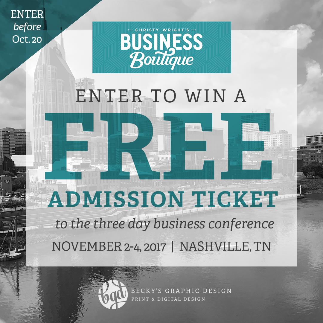 Contest: Business Boutique Ticket!